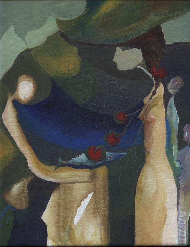 لوحة أهداها الجنايني إلى متحف الفن بهانوي في فيتنام