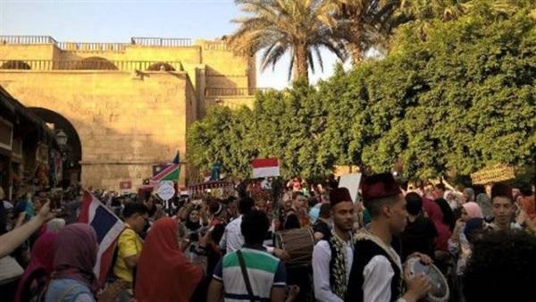 من احتفالات قرع الطبول في محافظات مختلفة في مصر