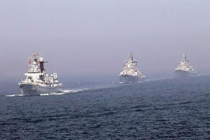 بدء المناورات البحرية الأميركية الكورية الجنوبية في بحر اليابان