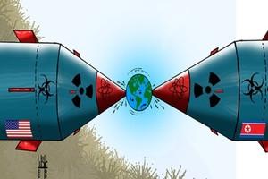 كاريكاتير 'الخليج الإماراتية': استعراض للقوة النووية بين كوريا الشمالية وأميركا