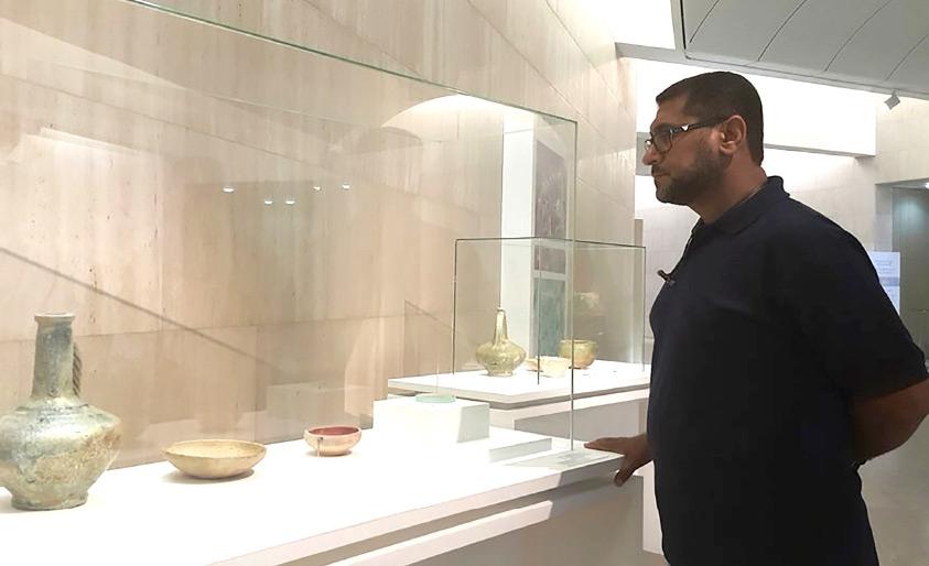 كنوز المالكية في بهو المتحف