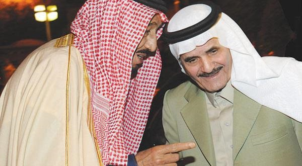 الملك سلمان بن عبدالعزيز مع تركي السديري