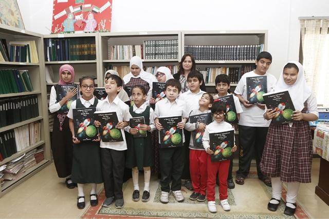 الفعالية التي أقيمت بمكتبة المعهد السعودي البحريني للمكفوفين شارك فيها طلبة الصف السادس والإعدادي والثانوي