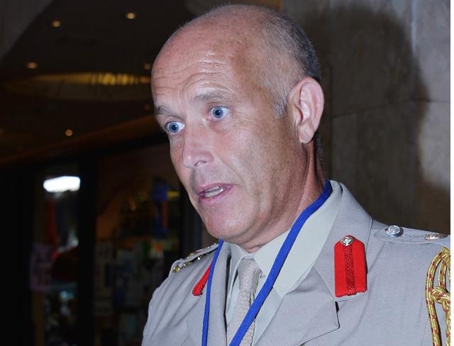 أحد المتحدثين في المؤتمر البريطاني الخليجي لتحسين مكافحة المتفجرات يؤكد ضرورة محاربة المنظمات الإرهابية - تصوير : أحمد آل حيدر