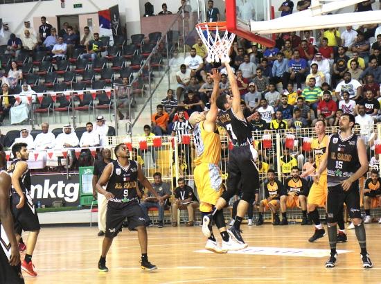 من منافسات البطولة الخليجية لكرة السلة