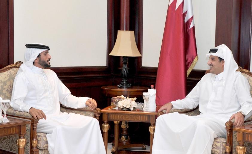 أمير دولة قطر مستقبلاً سمو الشيخ ناصر بن حمد آل خليفة