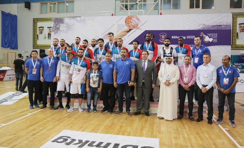 فريق المنامة متوجاً بالميدالية البرونزية
