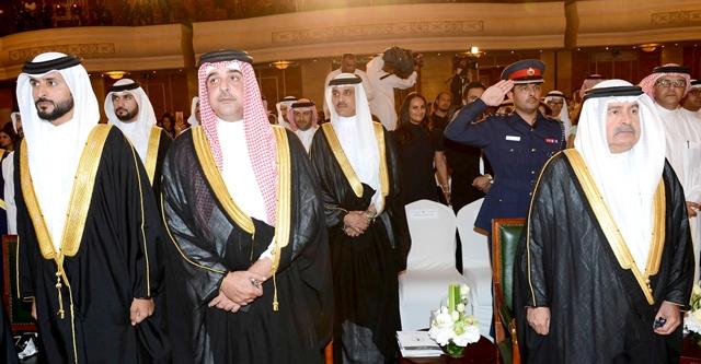 نائب رئيس مجلس الوزراء والممثل الشخصي لجلالة الملك وسمو الشيخ ناصر لدى حضورهم حفل التخرج