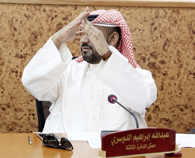 العضو البلدي عبدالله الدوسري طالباً نقطة نظام