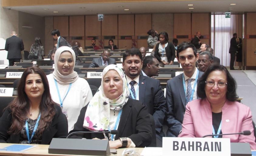 الصالح مترئسة وفد البحرين المشارك في أعمال جمعية الصحة العالمية بجنيف